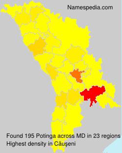 Familiennamen Potinga - Moldova