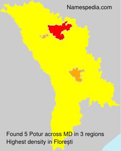 Surname Potur in Moldova