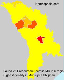 Surname Prescureanu in Moldova