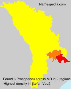 Surname Procopencu in Moldova