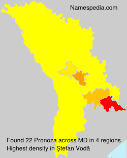 Surname Pronoza in Moldova