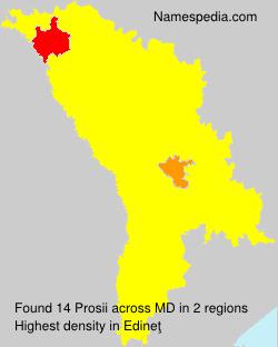 Surname Prosii in Moldova