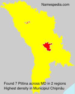 Surname Ptitina in Moldova