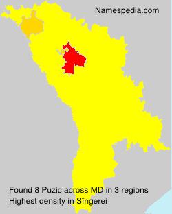 Surname Puzic in Moldova