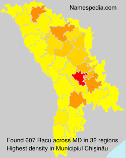 Surname Racu in Moldova