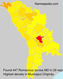 Familiennamen Romanciuc - Moldova