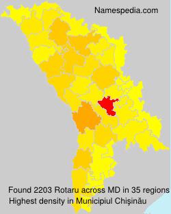 Familiennamen Rotaru - Moldova