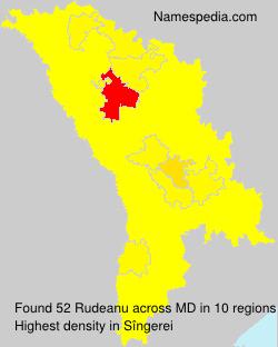 Surname Rudeanu in Moldova