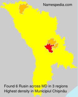 Surname Rusin in Moldova