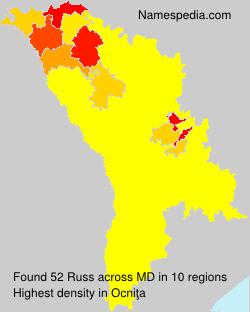 Familiennamen Russ - Moldova