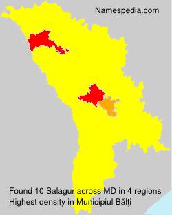 Familiennamen Salagur - Moldova