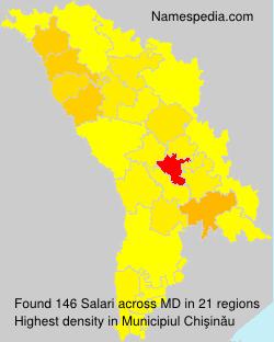 Surname Salari in Moldova