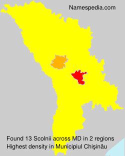 Surname Scolnii in Moldova