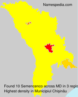 Surname Semencenco in Moldova