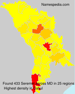 Surname Seremet in Moldova