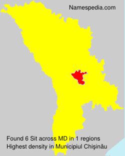 Surname Sit in Moldova
