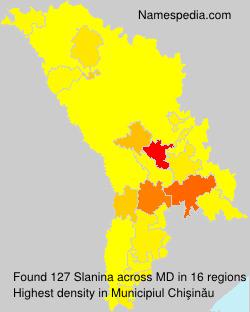 Surname Slanina in Moldova