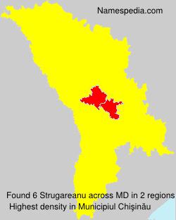 Surname Strugareanu in Moldova