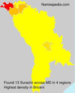 Familiennamen Surachii - Moldova