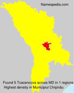 Familiennamen Tcacencova - Moldova