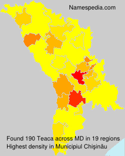Familiennamen Teaca - Moldova