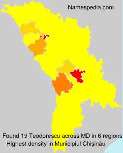 Familiennamen Teodorescu - Moldova