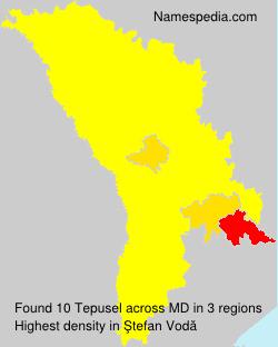 Surname Tepusel in Moldova