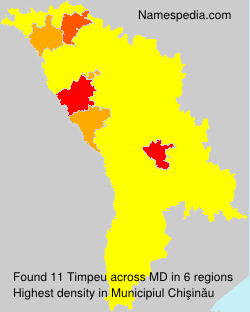 Surname Timpeu in Moldova