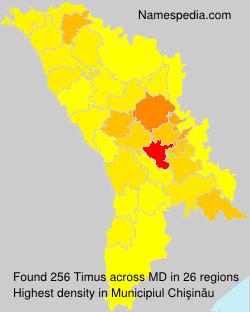 Surname Timus in Moldova