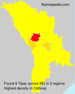 Surname Tipac in Moldova