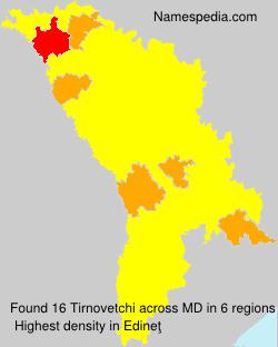 Surname Tirnovetchi in Moldova