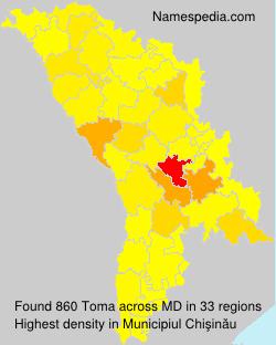 Surname Toma in Moldova