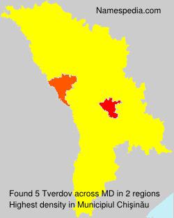 Surname Tverdov in Moldova