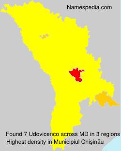 Surname Udovicenco in Moldova