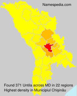Surname Untila in Moldova