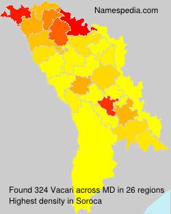 Surname Vacari in Moldova
