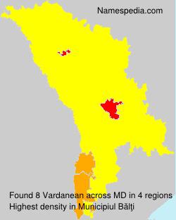 Surname Vardanean in Moldova