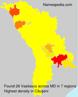 Familiennamen Vasilasco - Moldova