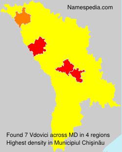 Surname Vdovici in Moldova