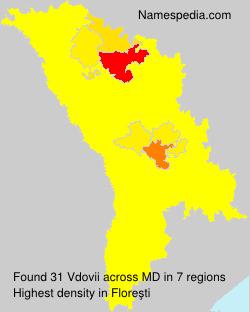 Surname Vdovii in Moldova