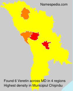 Surname Veretin in Moldova