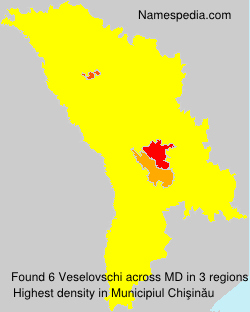 Familiennamen Veselovschi - Moldova