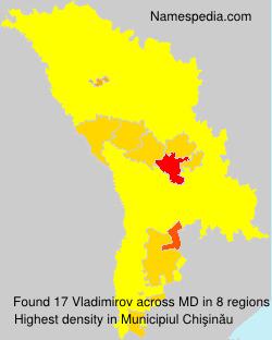 Surname Vladimirov in Moldova