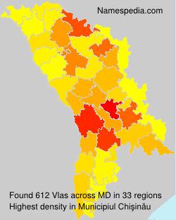 Surname Vlas in Moldova