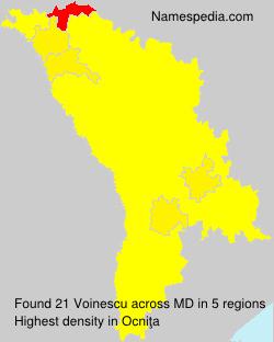 Surname Voinescu in Moldova