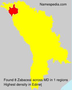 Surname Zabaceai in Moldova