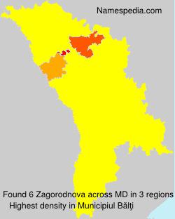 Familiennamen Zagorodnova - Moldova