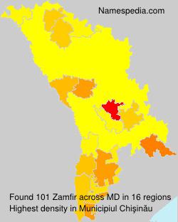 Surname Zamfir in Moldova