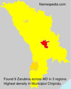 Familiennamen Zarubina - Moldova