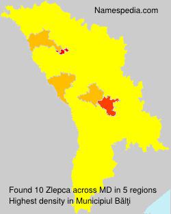 Familiennamen Zlepca - Moldova